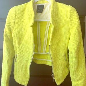 Bright green Zara jacket